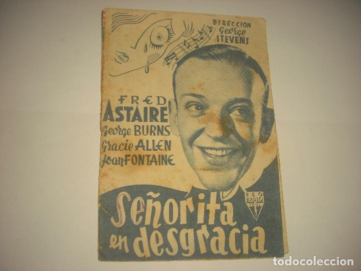 SEÑORITA EN DESGRACIA , PROGRAMA DOBLE SIN PUBLICIDAD . (Cine - Folletos de Mano - Musicales)