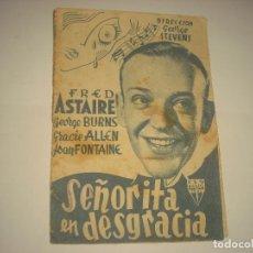 Cine: SEÑORITA EN DESGRACIA , PROGRAMA DOBLE SIN PUBLICIDAD .. Lote 122893347