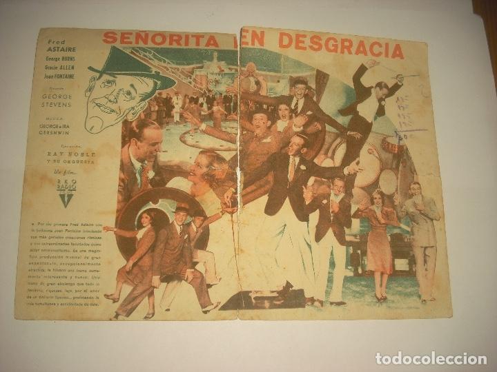 Cine: SEÑORITA EN DESGRACIA , PROGRAMA DOBLE SIN PUBLICIDAD . - Foto 2 - 122893347