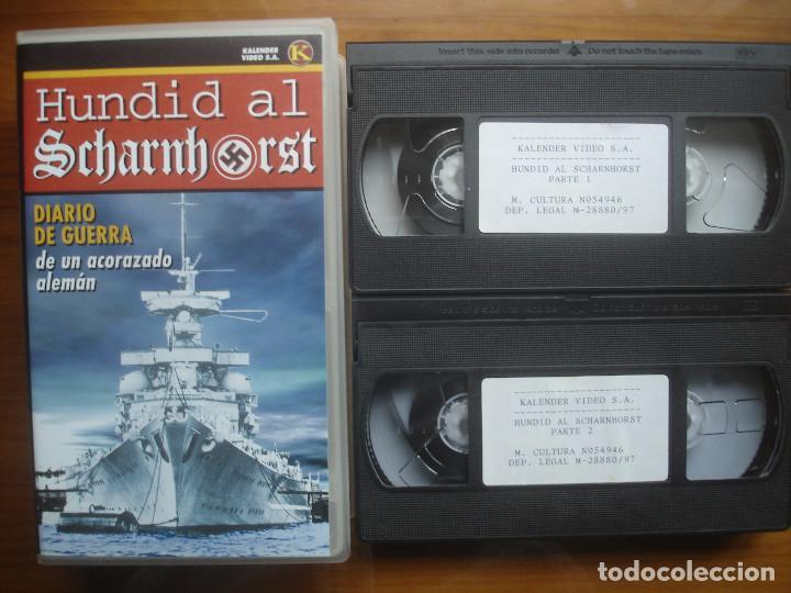 VHS HUNDID AL SCHARNHORST. DIARIO DE GUERRA DE UN ACORAZADO ALEMÁN. KRIEGSMARINE. KALENDER (Cine - Folletos de Mano - Documentales)