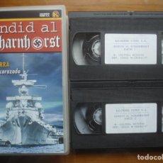 Cine: VHS HUNDID AL SCHARNHORST. DIARIO DE GUERRA DE UN ACORAZADO ALEMÁN. KRIEGSMARINE. KALENDER. Lote 122945763