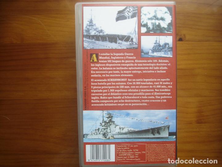 Cine: VHS Hundid al Scharnhorst. Diario de guerra de un acorazado alemán. Kriegsmarine. Kalender - Foto 2 - 122945763
