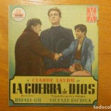 Cine: FOLLETO - PELÍCULA - FILM - LARGOMETRAJE - CINE - LA GUERRA DE DIOS - DOBLE - SI PUBLI. Lote 123000267