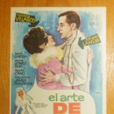 Cine: FOLLETO - PELÍCULA - FILM - LARGOMETRAJE - CINE - EL ARTE DE CASARSE - SIN PUBLICIDAD. Lote 123001591