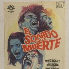 Cine: PROGRAMA DE CINE EL SONIDO DE LA MUERTE. SIN PUBLICIDAD.. Lote 155498986