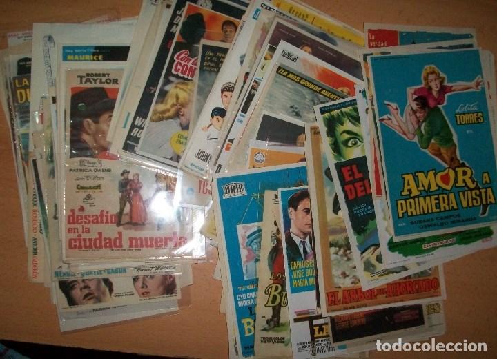 CINE (10) (LOTE DE 150 PROGRAMAS DIFERENTES) (VER DESCRIPCION) (Cine - Folletos de Mano - Acción)