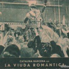 Cine: LA VIUDA ROMÁNTICA - PROGRAMA TARJETA CON PUBLICIDAD RF-1462. Lote 123104643