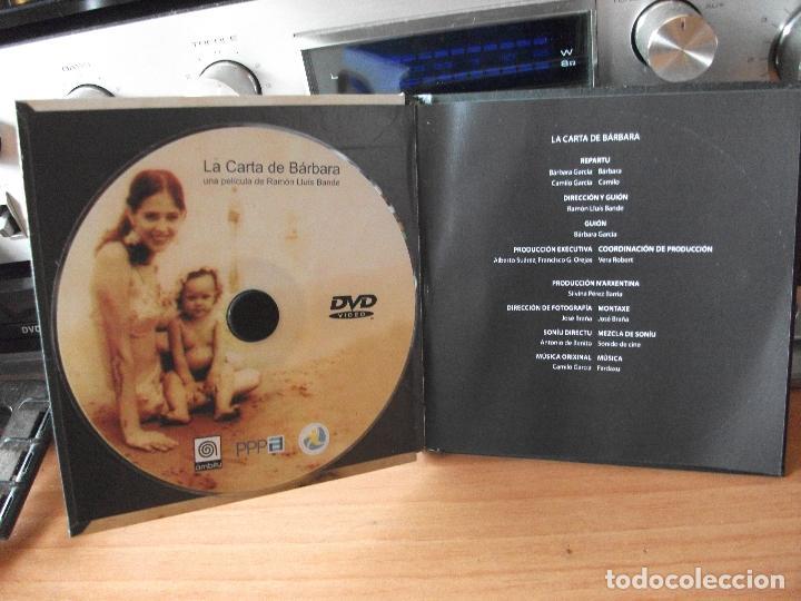 Cine: LA CARTA DE BARBARA. UNA PELICULA DE RAMON LLUIS BANDE.LIBRO - DVD.BARBARA GARCIA. ASTURIAS PEPETO - Foto 4 - 123115855
