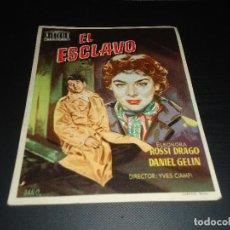 Cine: PROGRAMA DE MANO ORIGINAL - EL ESCLAVO - CON CINE. Lote 123121667
