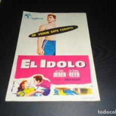 Cine: PROGRAMA DE MANO ORIGINAL - EL IDOLO - CINE DE TÁRREGA. Lote 123123995