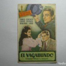 Cine: PROGRAMA EL VAGABUNDO -JAMES CAGNEY --PUBLICIDAD BB. Lote 123405871