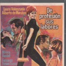 Flyers Publicitaires de films Anciens: DE PROFESION SUS LABORES - PRGRAMA SENCILLO DE CB FILMS CON PUBLICIDAD , RF-1458 . Lote 123423967