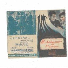 Cine: LA DESTRUCCIÓN DEL HAMPA ( CINE EL CENTRAL ). Lote 123537091