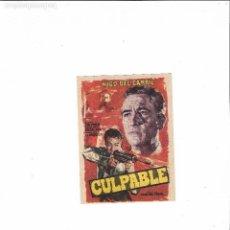 Cine: CULPABLE ( HUGO DEL CARRIL - SIN PUBLICIDAD ). Lote 123562919