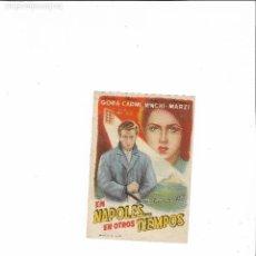 Cine: NAPOLES EN OTROS TIEMPOS ( SIN PUBLICIDAD ). Lote 123585859
