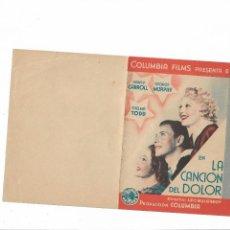 Cine: LA CANCIÓN DEL DOLOR ( SIN PUBLICIDAD - NANCY CARROLL - COLUMBIA ). Lote 124066899