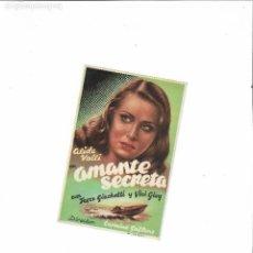 Cine: AMANTE SECRETA ( SIN DISTRIBUIDORA - ALIDA VALLI - SIN PUBLICIDAD ). Lote 124258551