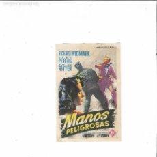 Cine: MANOS PELIGROSAS ( SOLIGO - CINE CERVANTES ). Lote 124427159