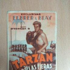 Cine: TARZAN DE LAS FIERAS. 1935 - CINE. FOLLETO DE MANO DOBLE. Lote 124455903