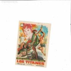 Cine: LOS TITANES ( PEPLUM - SIN PUBLICIDAD - COLOR DE DISTRIBUIDORA NEGRO ). Lote 124500919