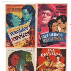 Cine: 10 FOLLETOS SOLIGO. Lote 124509631