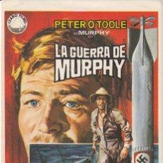 Cine: PROGRAMA DE MANO: LA GUERRA DE MURPHY. Lote 124511483