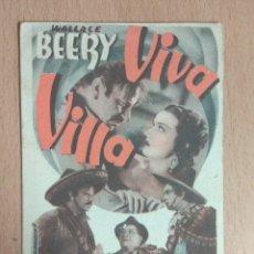 Cine: VIVA VILLA 1935. CINE. FOLLETO DE MANO.. Lote 124560675