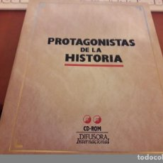 Cine: PROTAGONISTAS DE LA HISTORIA . PACK DE LUJO DE 2 CD ROM. EDICIÓN DIFUSORA INTERNACIONAL. RARO. Lote 124563643