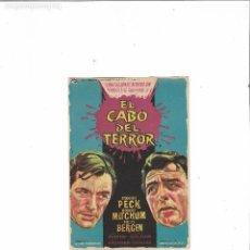Cine: EL CABO DEL TERROR ( GREGORY PECK - SIN PUBLICIDAD ). Lote 124614059