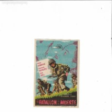 Cine: EL BATALLON DE LA MUERTE ( SELECCIONES FUSTER - SIN PUBLICIDAD ). Lote 124649363
