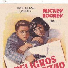 Cine: PELIGROS DE JUVENTUD CON MICKEY ROONEY AÑO 1955 EN CINEMAS PRINCIPAL Y LA RAMBLA. Lote 124700467