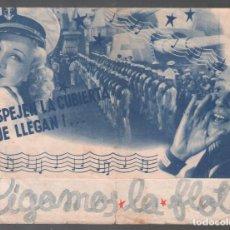 Cine: SIGAMOS LA FLOTA - FRED ASTAIRE / PROGRAMA DOBLE SIN PUBLICIDAD RF-1597. Lote 125029367