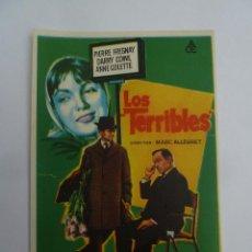 Flyers Publicitaires de films Anciens: LOS TERRIBLES - FOLLETO DE MANO ORIGINAL SOLIGO ACE FILMS PIERRE FRESNAY MARC ALLEGRET. Lote 125194327