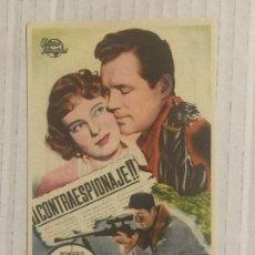 Cine: PROGRAMA DE CINE ¡¡CONTRAESPIONAJE!!. GRAN CINEMA COCA (VALLADOLID).. Lote 125217703