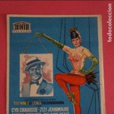 Cine: FOLLETO DE MANO PROGRAMA DE CINE LOS BALLETS DE PARIS SIN PUBLICIDAD LOTE 8. Lote 125262099