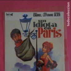 Cine: FOLLETO DE MANO PROGRAMA DE CINE UN IDIOTA EN PARIS SIN PUBLICIDAD LOTE 8. Lote 125283075