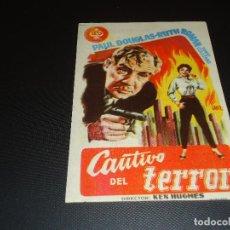 Cine: PROGRAMA DE MANO ORIGINAL - CAUTIVO DEL TERROR - CINE DE ORIHUELA. Lote 125378635