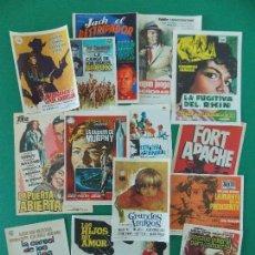 Cine: LOTE 15 FOLLETO ,FOLLETOS ,PROGRAMA CINE - AÑOS 60-70 , ORIGINALES , DIFERENTES, VER 5 FOTOS. R-9722. Lote 157347817