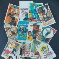 Cine: LOTE 15 FOLLETO ,FOLLETOS ,PROGRAMA CINE - AÑOS 60-70 , ORIGINALES , DIFERENTES, VER 5 FOTOS. R-9724. Lote 157347840