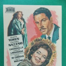 Cine: FOLLETO DE MANO , PROGRAMA CINE . LA PUERTA ABIERTA - AÑOS 50 - ..R-9727. Lote 125443163