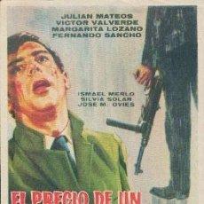 Cine: EL PRECIO DE UN ASESINO ( SIN PUBLICIDAD ). Lote 125446267