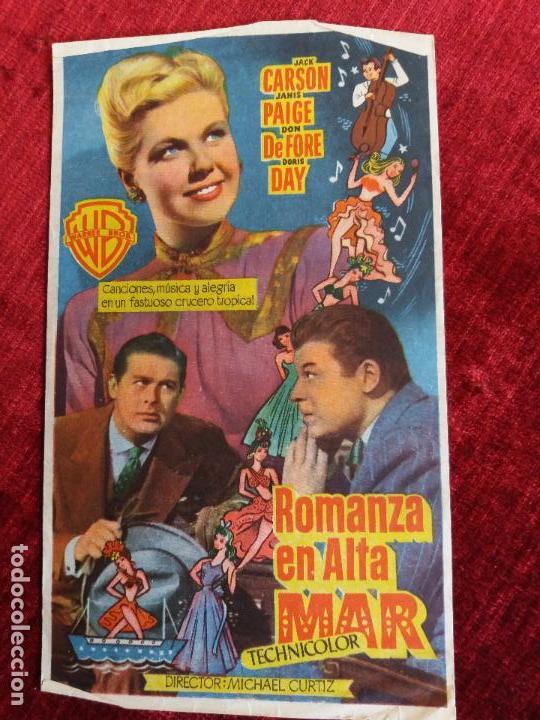 ROMANZA EN ALTA MAR. DORIS DAY, MICHAEL CURTIZ. TEATRO CAMPOAMOR OVIEDO (Cine - Folletos de Mano - Comedia)