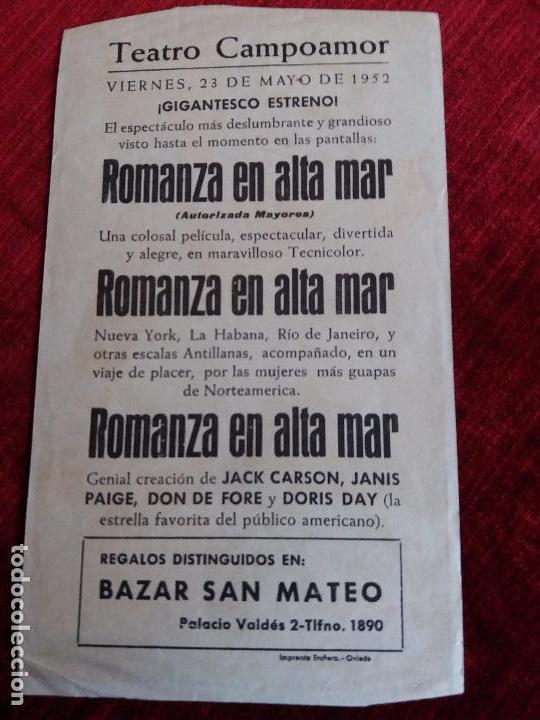 Cine: ROMANZA EN ALTA MAR. DORIS DAY, MICHAEL CURTIZ. TEATRO CAMPOAMOR OVIEDO - Foto 2 - 125887975