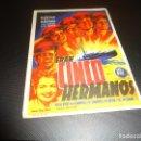 Cine: PROGRAMA DE MANO ORIGINAL - ERAN CINCO HERMANOS - SALON NOVEDADES. Lote 125993611