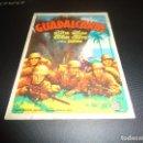 Cine: PROGRAMA DE MANO ORIGINAL - GUADALCANAL - CINE MAXIMO 1945. Lote 125995735