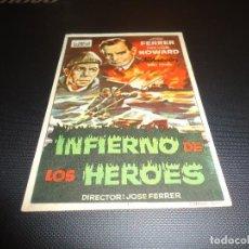 Cine: PROGRAMA DE MANO ORIGINAL - INFIERNO DE LOS HEROES - CINE DE ORIHUELA. Lote 125996299