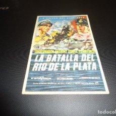 Cine: PROGRAMA DE MANO ORIGINAL - LA BATALLA DEL RIO DE LA PLATA - SIN CINE. Lote 125996403