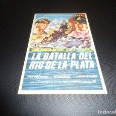 Cine: PROGRAMA DE MANO ORIGINAL - LA BATALLA DEL RIO DE LA PLATA - SIN CINE. Lote 125996443