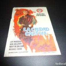 Cine: PROGRAMA DE MANO ORIGINAL - LA CIUDAD CAUTIVA - CINE DE CADIZ. Lote 125996635