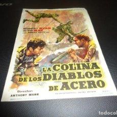 Cine: PROGRAMA DE MANO ORIGINAL - LA COLINA DE LOS DIABLOS DE ACERO - CINE DE ZARAGOZA. Lote 125996767